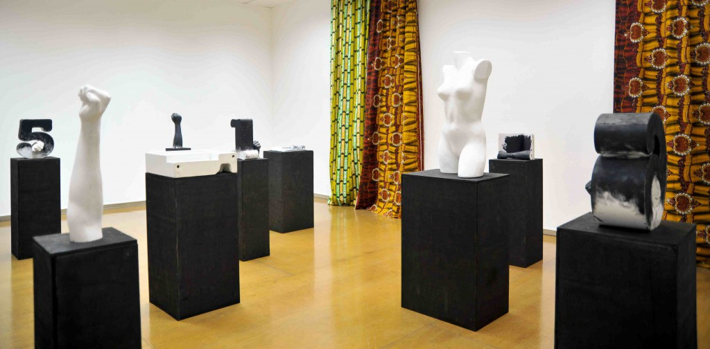 01. Installation view, Some objects blackened and a body too, Mary Mary, Glasgow 2011